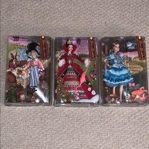 Alice in Wonderland Barbie Set of 3